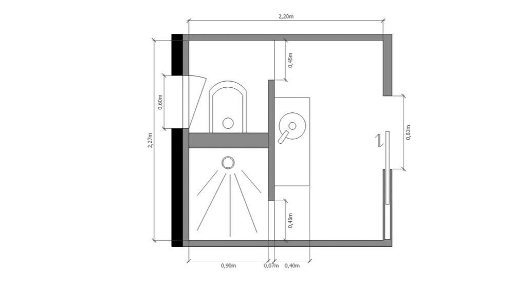 Plan technique salle d'eau