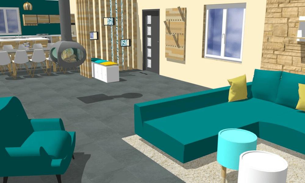 Vue 3D ambiance scandinave