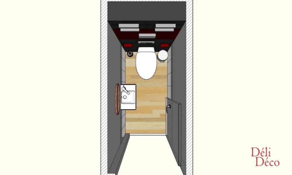 proposition d'aménagement WC