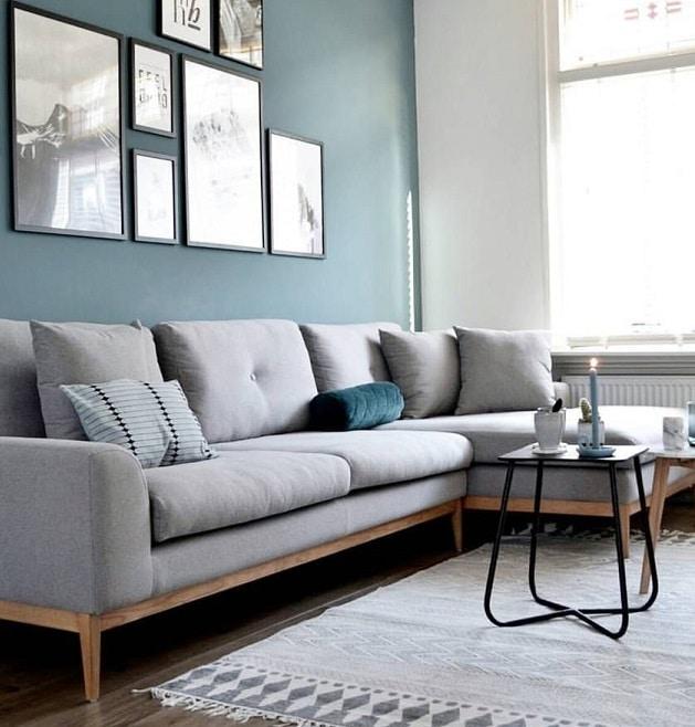 bleu pastel et gris en déco