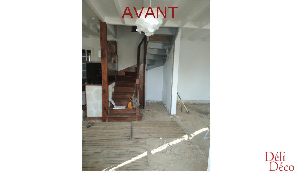 Accès étage avant préconisations décoratives