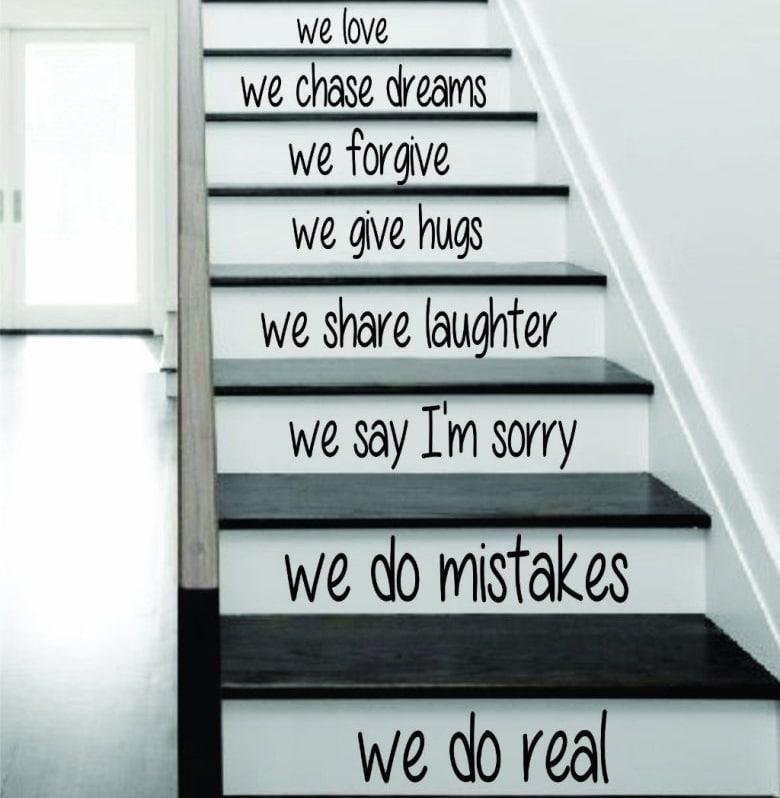 Escalier à messages