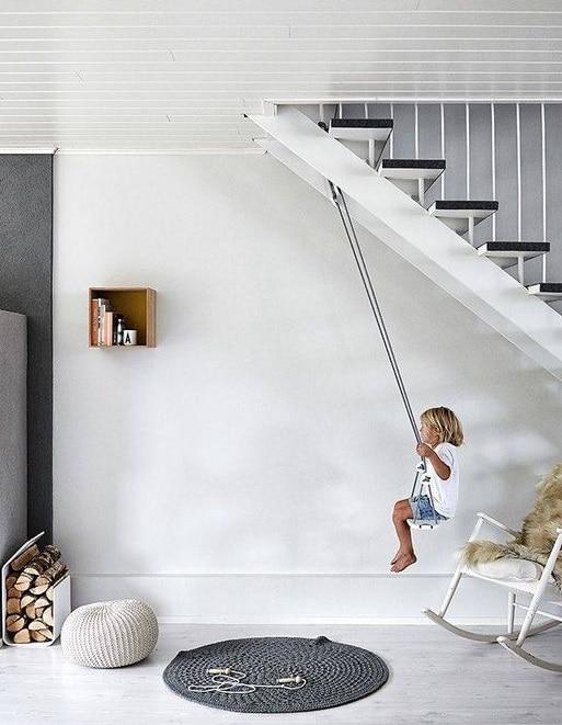Escalier balançoire