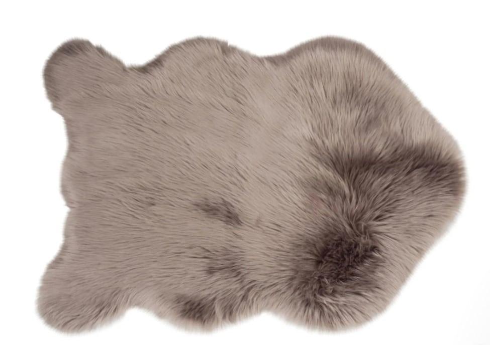 Tapis poils longs fausse fourrure
