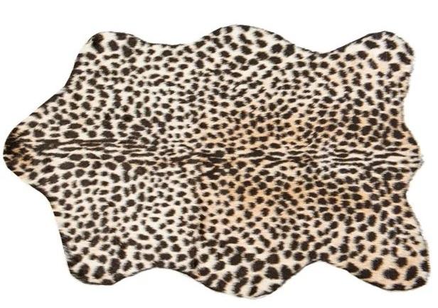 Tapis léopard fausse fourrure