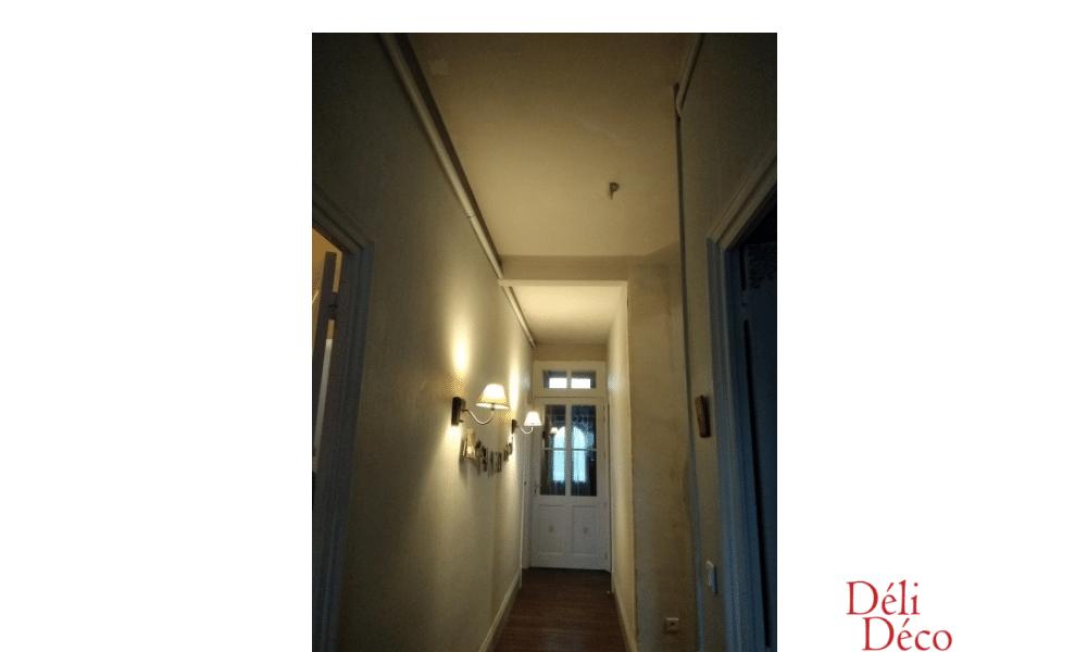 Vue entrée et couloir avant