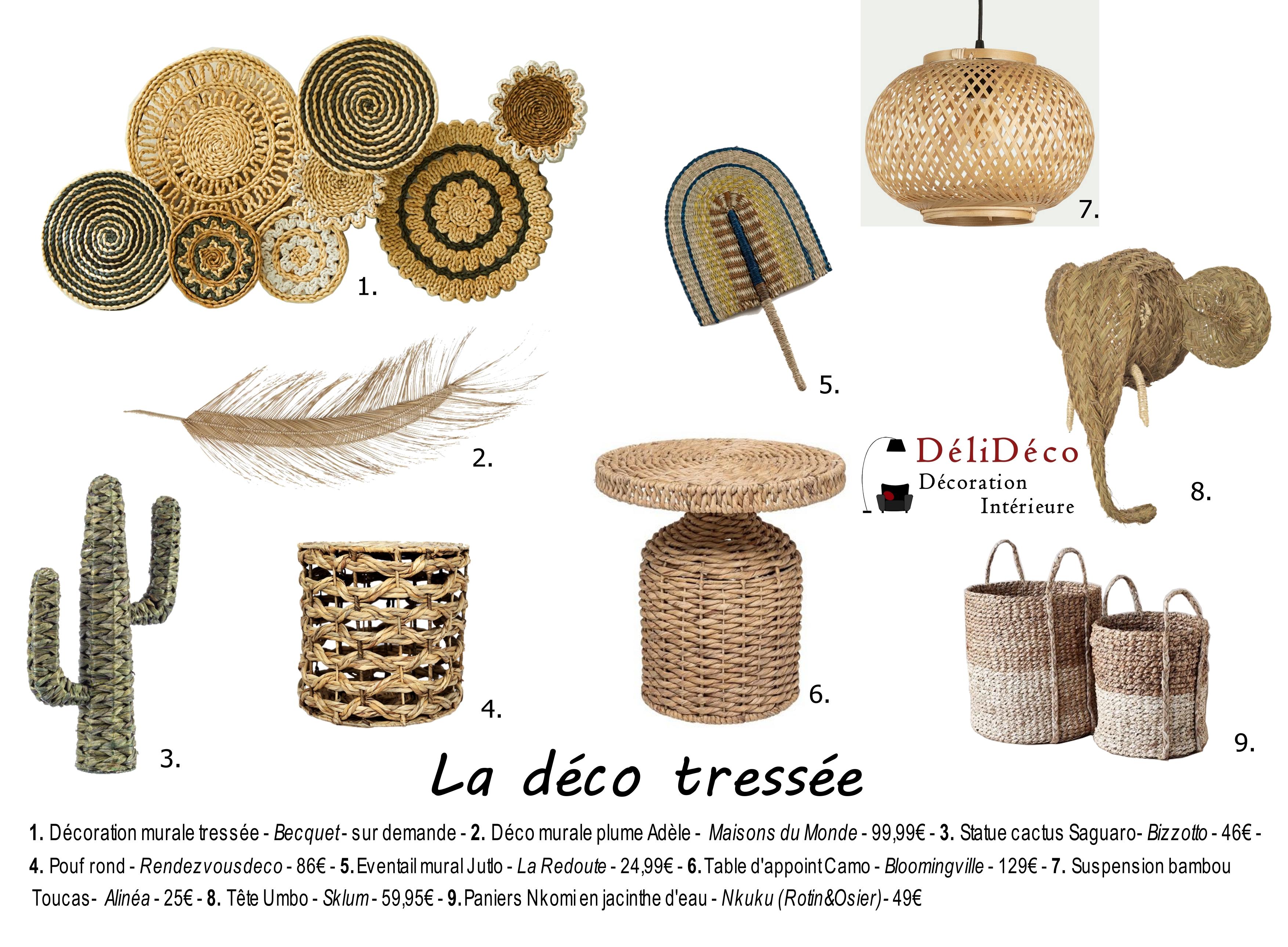 shopping list décoration en fibres tressées