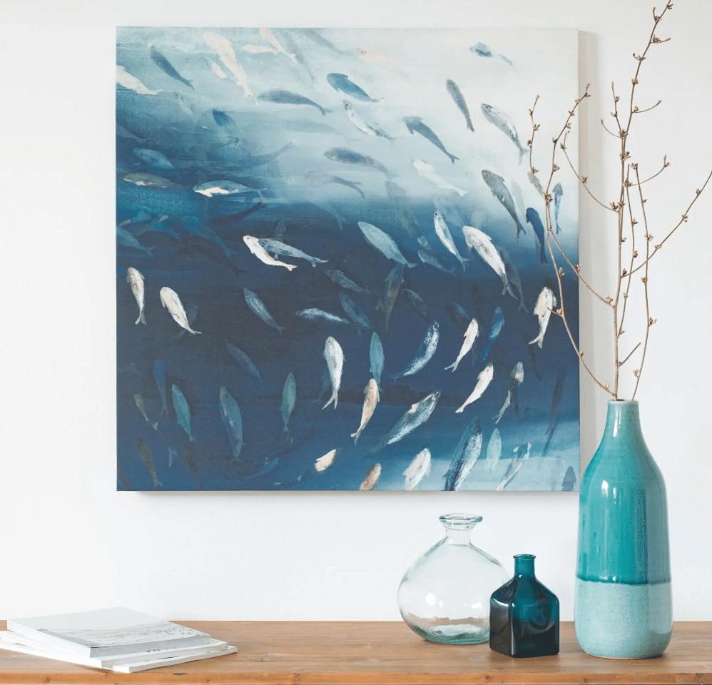 Tableau poissons en banc