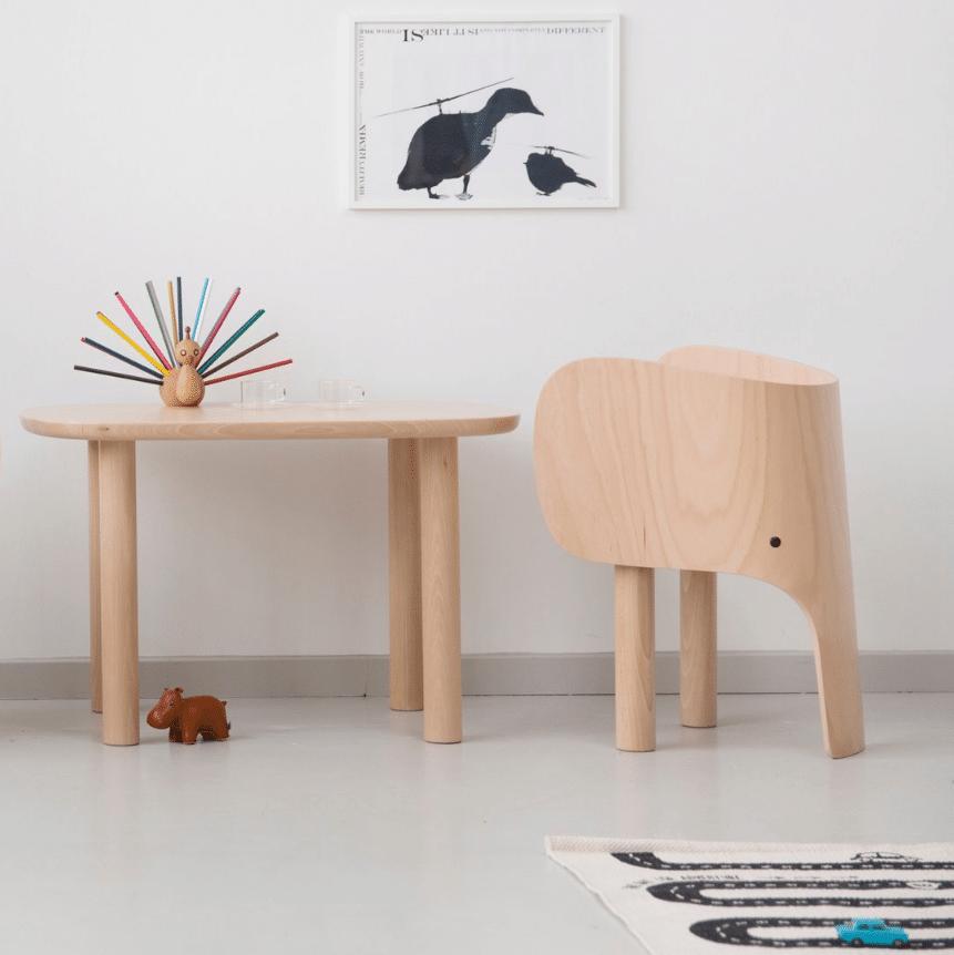 Mobilier design éléphant en bois
