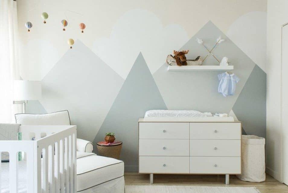Chambre bébé vert sauge