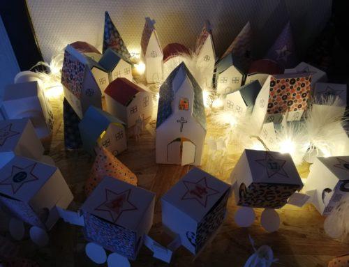 Tuto déco DIY: Un village de l'Avent en papier