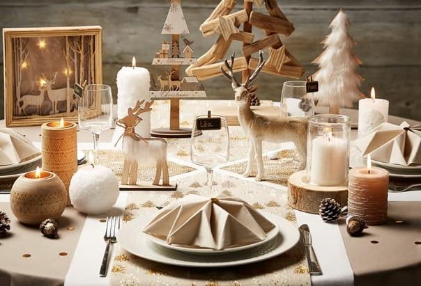 Table de fêtes style Hygge