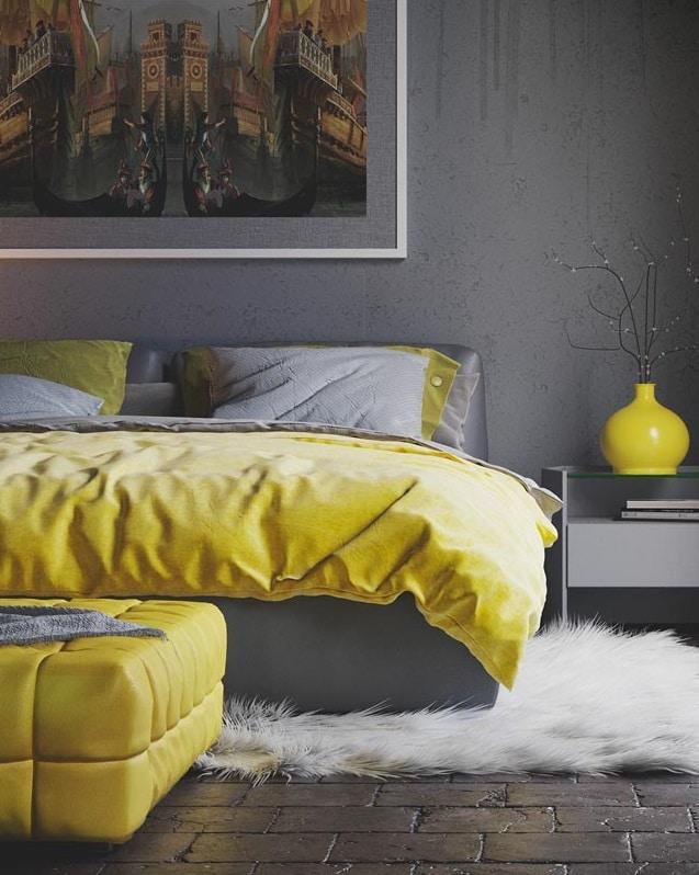 Gris et jaune chaleureux