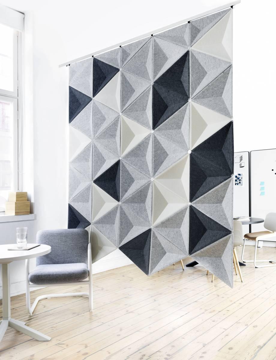 Cloison acoustique géométrique