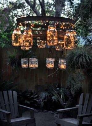 Lampions lumineux terrasse