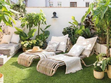 Terrasse synthétique
