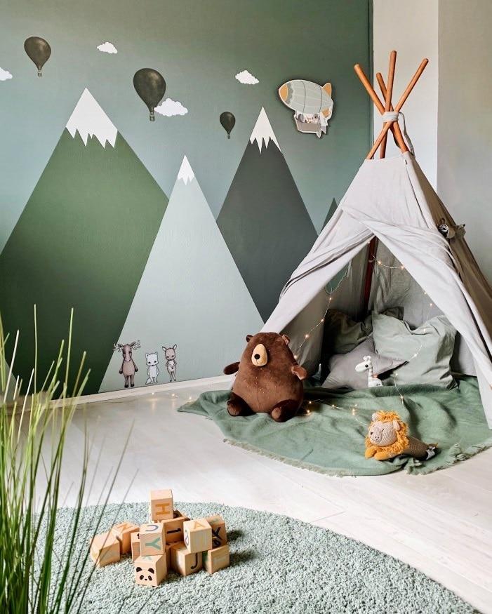 Panorama vert chambre enfant