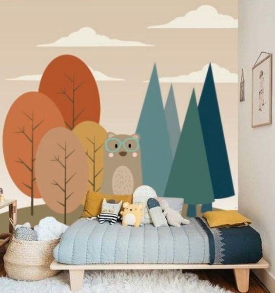 Décor coloré chambre d'enfant