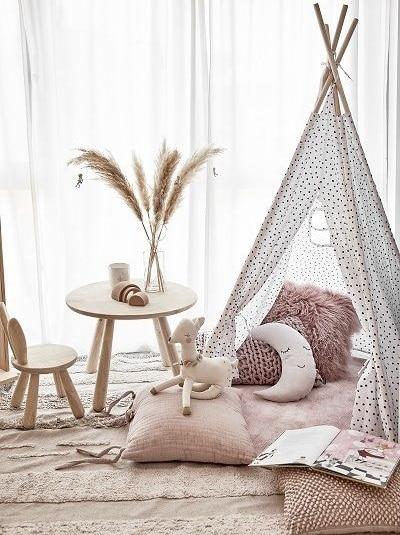 rose blush chambre d'enfant