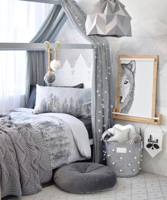 Palette de gris pour chambre d'enfant