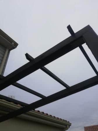 Structure pergola bois