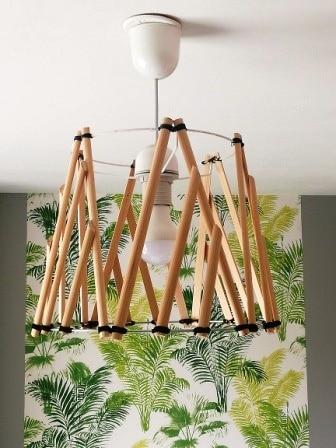 Suspension bois DIY déco scandinave