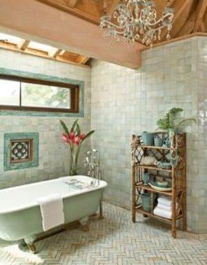 zellige mur et sol salle de bain