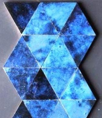 zellige triangulaire bleu