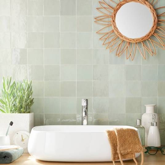 zellige vert d'eau salle de bain